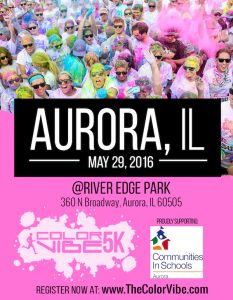 Aurora Color Vibe 5k Flyer